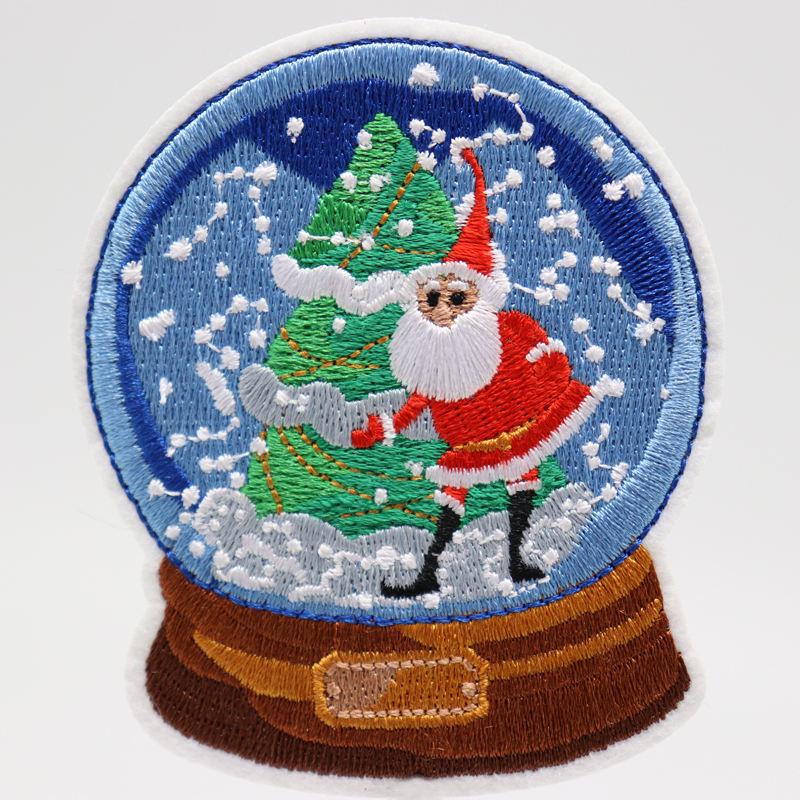 Высокое качество патчей для рождества патчи Вышивка на заказ
