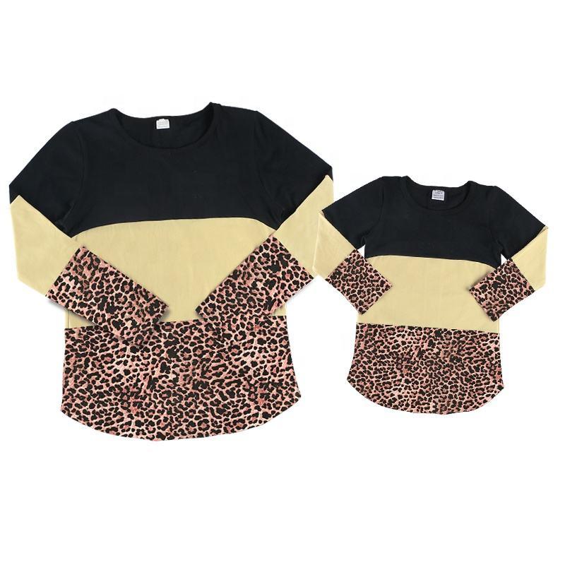 Оптовая продажа; топы с длинными рукавами для девочек; трикотажные хлопковые рубашки с кружевом «Mommy and Me»