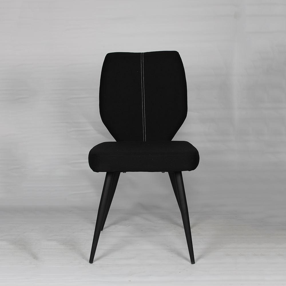 Màu đen vải sơn kim loại ống chân phòng khách nhỏ ghế phòng khách cổ điển ghế nóng bán hiện đại leather accent ghế