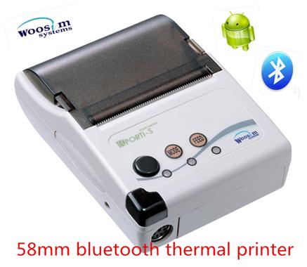 Woosim PORTI-S30/40 2 pulgadas mini USB portátil Android Bluetooth infrarrojo Bill impresora térmica