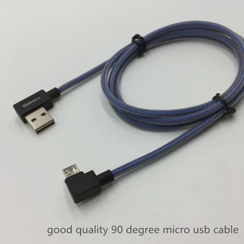 NEW start geflochtenen fischernetz 90 grad usb-kabel