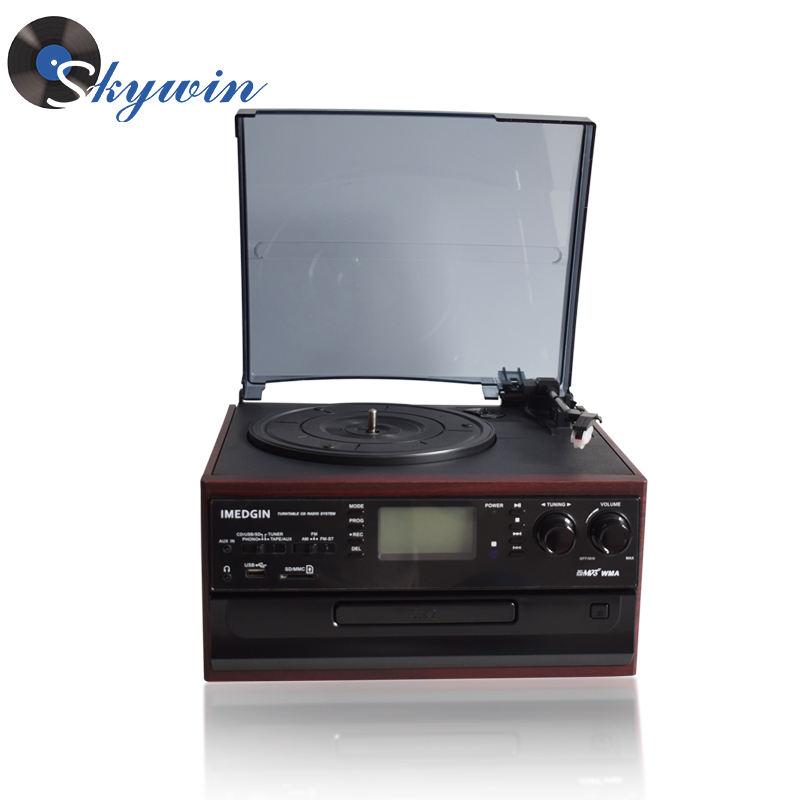 <span class=keywords><strong>Estéreo</strong></span> hi-fi giratoria doble sistema cassette vinilo/CD MP3 USB SD