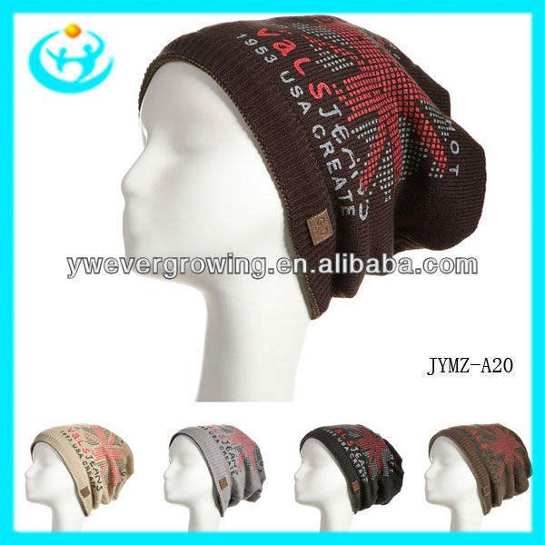 2013 nuevo estilo de la moda de punto sombrero de lana de invierno sombrero y gorra de lana sombrero del ganchillo