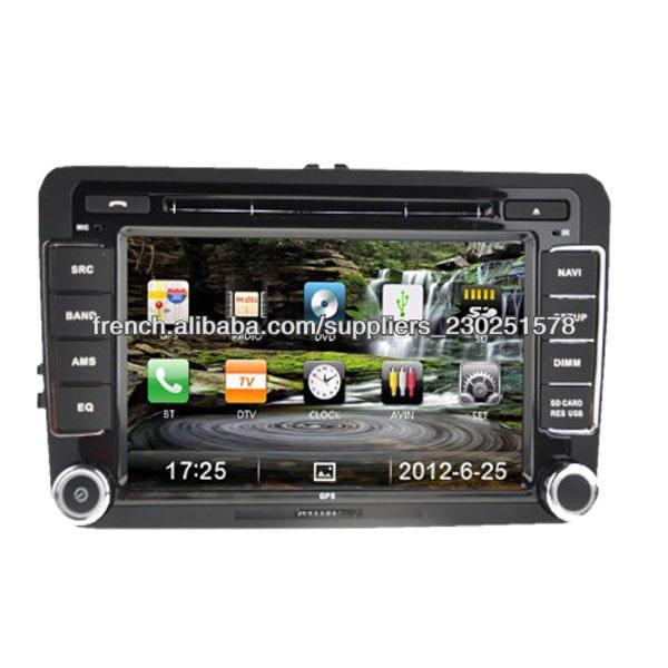 AUTORADIO VOLKSWAGEN GOLF 5/GOLF 6/PASSAT/TOURAN DVD <span class=keywords><strong>DIVX</strong></span> TNT GPS BT 3G