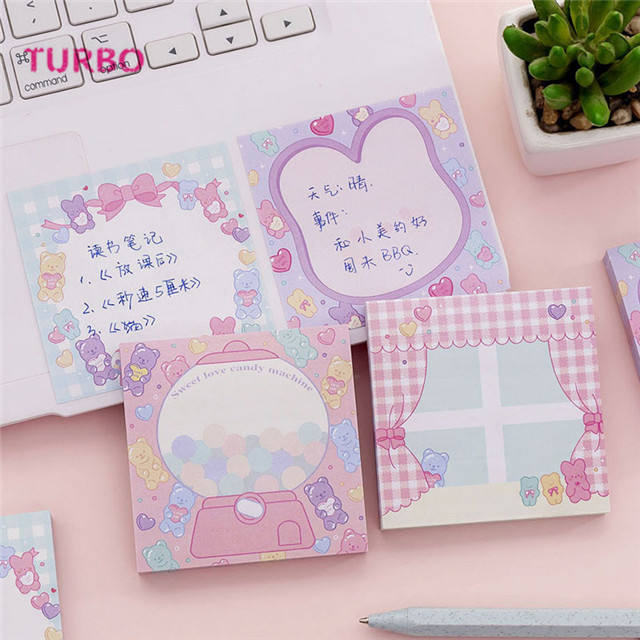 Mexico best selling office supplies stationery items list with cheap price promotion cartoon kawaii colorful paper sticky notes