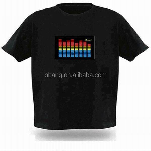 Comercio al por mayor 100% algodon custom led la camiseta/la camiseta/el <span class=keywords><strong>ecualizador</strong></span> t-shirt