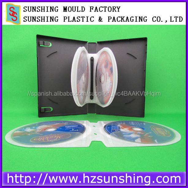 Venta caliente multi caja <span class=keywords><strong>de</strong></span> 12 discos dvd, venta al por mayor <span class=keywords><strong>de</strong></span> plástico duro cd dvd caso