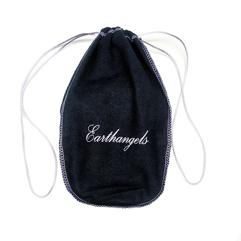 Custom Screen Printing Cotton Wine Bottle Bag Pouch With Logo