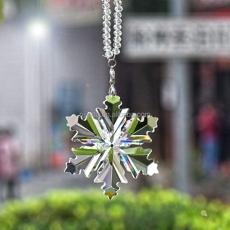 Crystal Christmas Tree Decoration Hanging Glass Crystal Snowflake pendant Ornaments