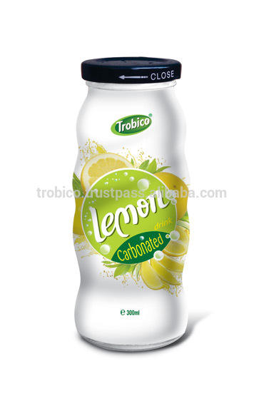 co2 frutas limão suco de 300ml garrafa de vidro