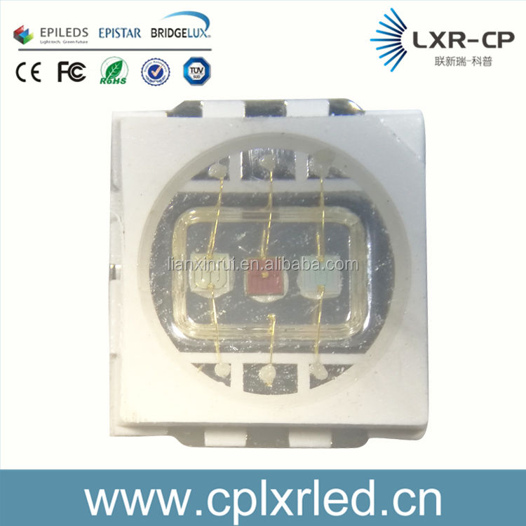 높은 품질의 3 칩 6 핀 0.2 와트 0.5 와트 rgb 5050 LED 다이오드 2 년 보증