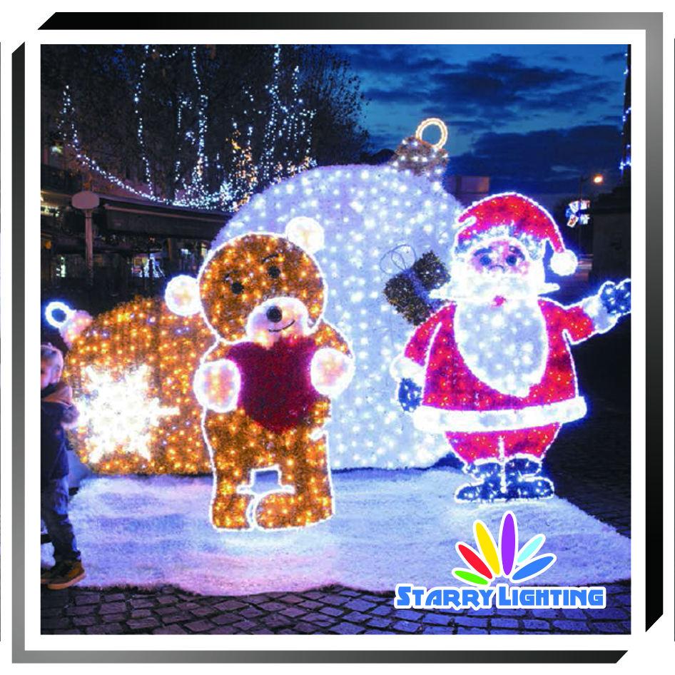 Новогоднее украшение свет уличный мотив 3D снеговик скульптура крытый и открытый