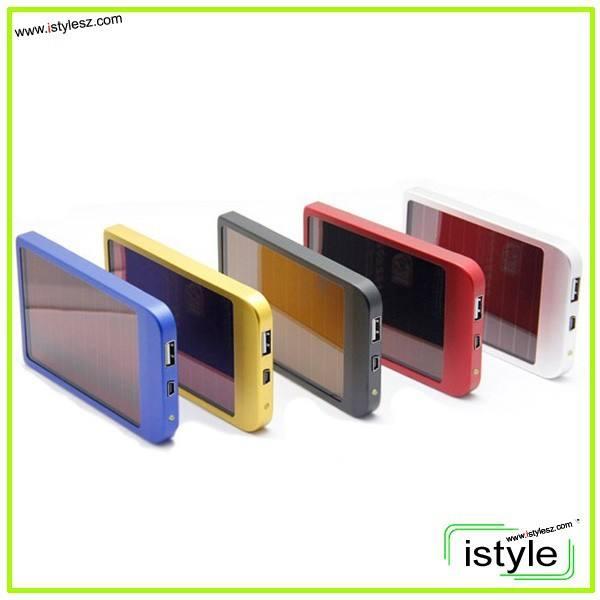 2600mah caricabatterie solare esterno pack banca di potere per cellulare iphone 4 4s 5 5s 5c ipod ipad samsung portatile