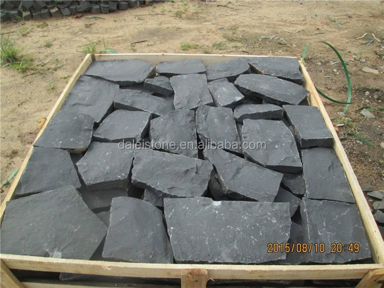 Zhangpu Dark Черный Balsalt Случайных природных брусчатка
