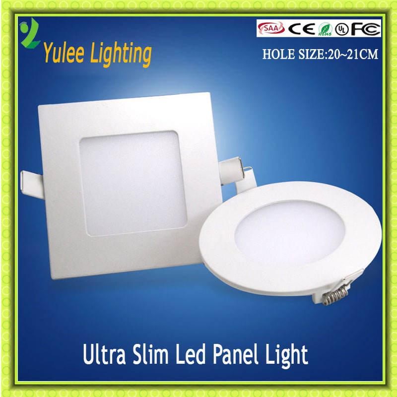 SMD2835 ultradünne moderne runde quadratische weiße geführte vertiefte deckenplatte licht 18 watt, pannel licht