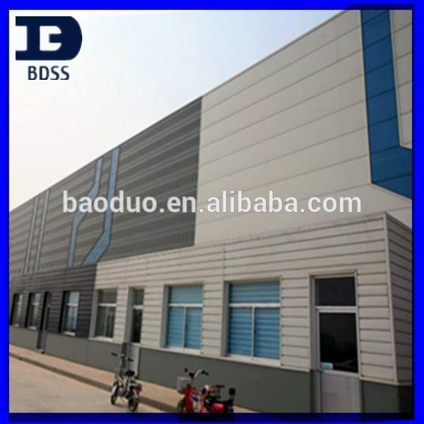 Poids léger métal cadre préfabriquées structure acier hangar entrepôt