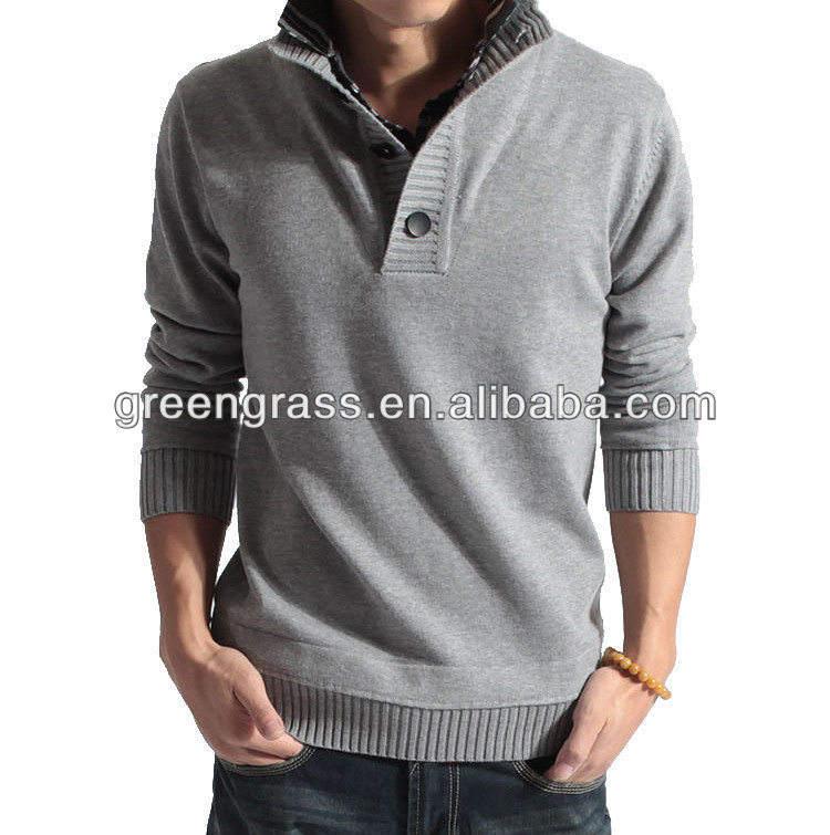 2014 мужская высокая шея супер-теплый свитер