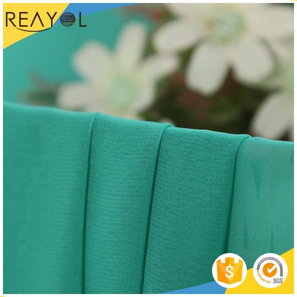 Nouveau style teints 100% polyester corée tissu en mousseline de soie