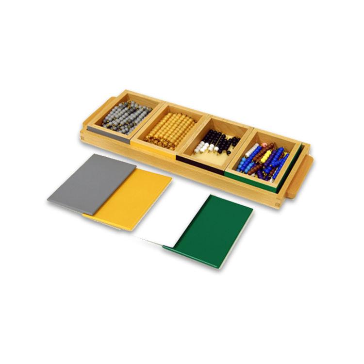 Matériel Montessori <span class=keywords><strong>éducatifs</strong></span> en bois préscolaires EN71 <span class=keywords><strong>mathématiques</strong></span> jouet soustraction Snake jeu en 4 caixas