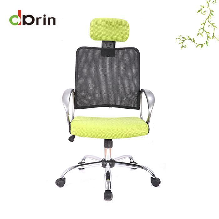 Silla verde ejecutivo <span class=keywords><strong>superior</strong></span> malla ergonómica giratoria silla de oficina para el Jefe