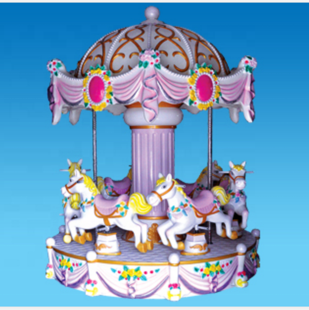 Theme park rides equipment kids small carousel horse for sale