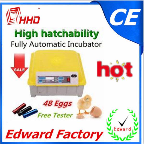 El más reciente 2014 automático <span class=keywords><strong>mini</strong></span> escala para gallinas cluecas avesdecorral( 48 huevos) para la venta ew-48