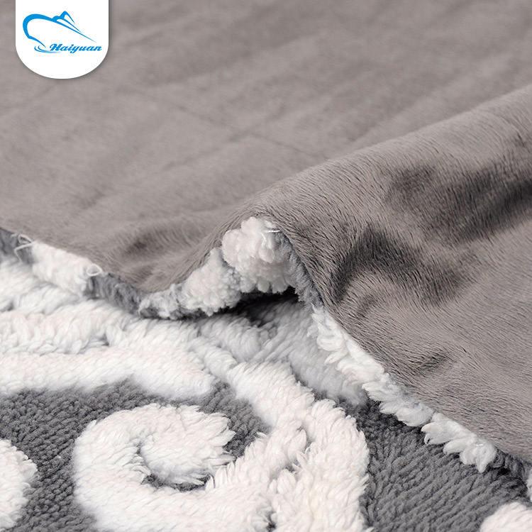 Boa qualidade personalizado confortável jacquard têxtil tecido de lã