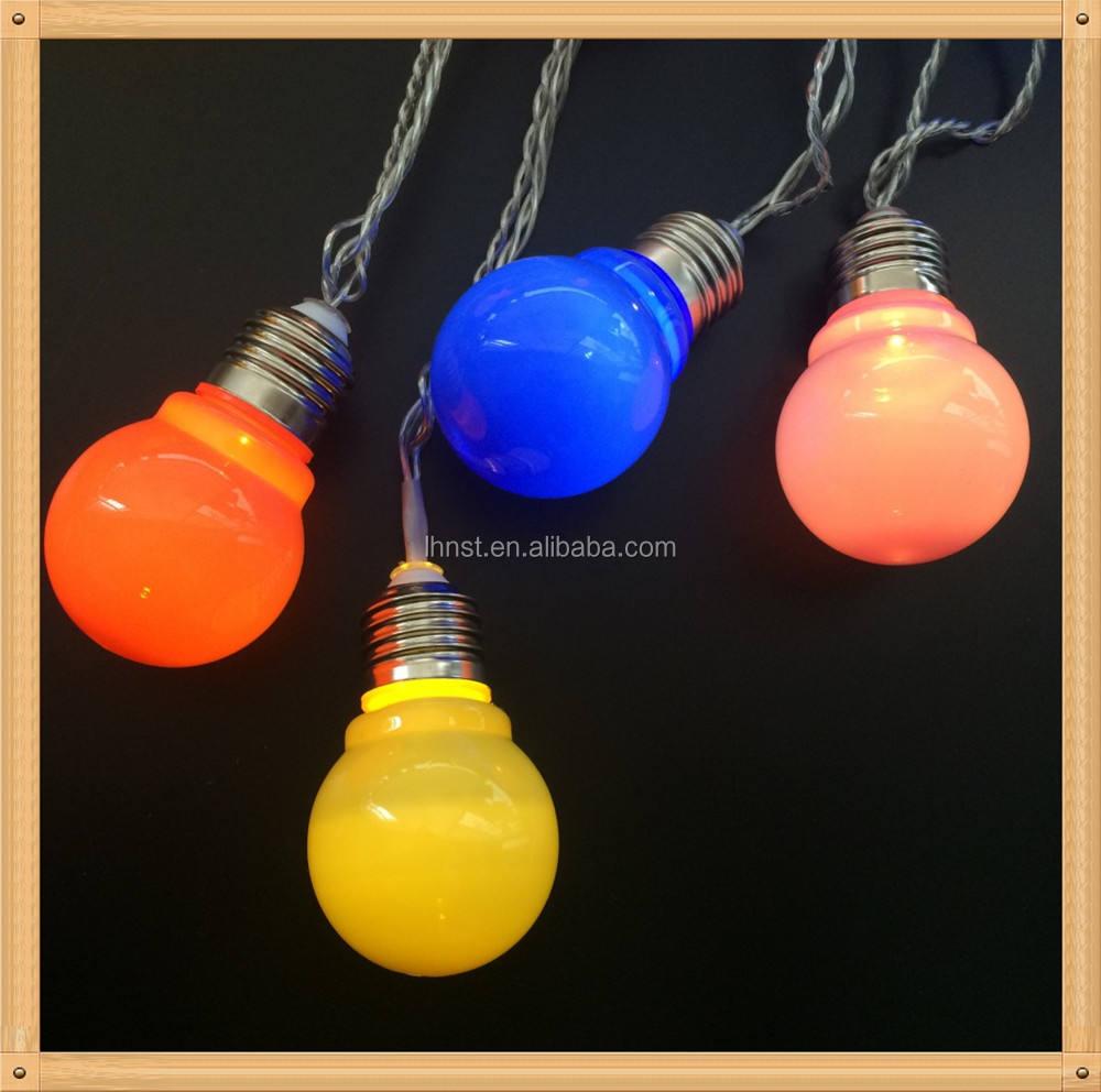 de E27 bola multicolor patio luces del adorno Led de iluminación al aire libre usado para el partido decoración de la boda
