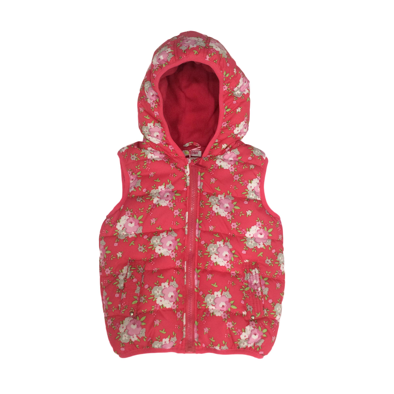 Флора Симпатичные для маленьких девочек жилеты верхняя одежда легкий с капюшоном.