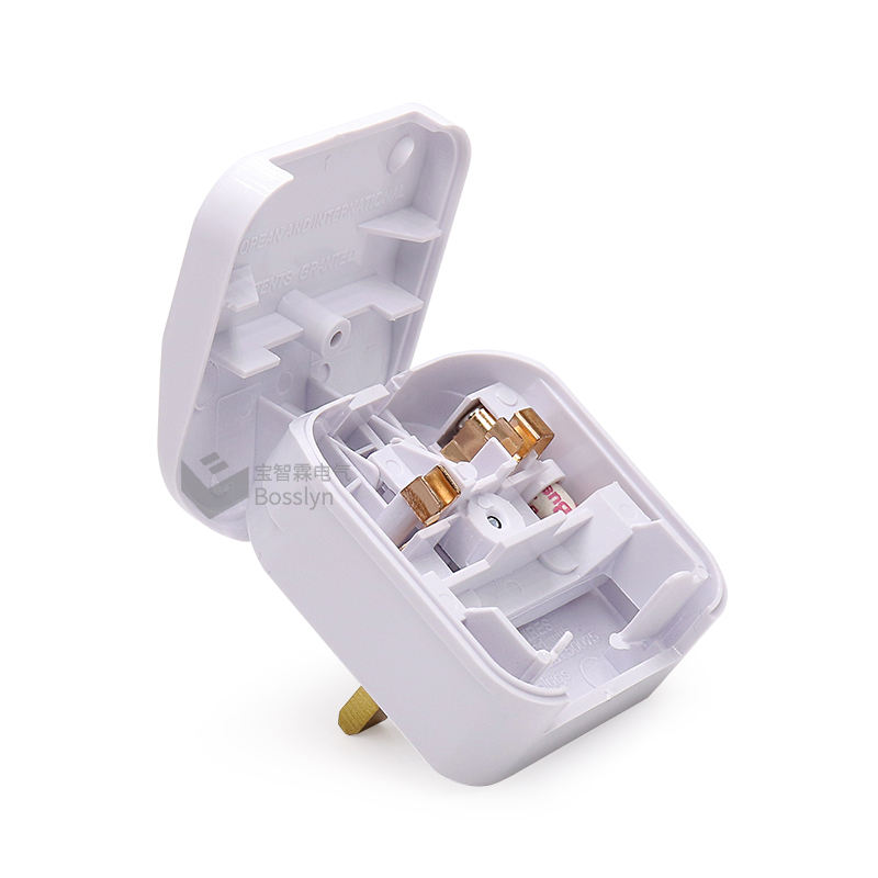 BS1363-5 Ecp BS5733 Eu 2 Pin Naar Uk 3 Pin Plug Adapter Stopcontact 5 Amp Zekering Secure Fit