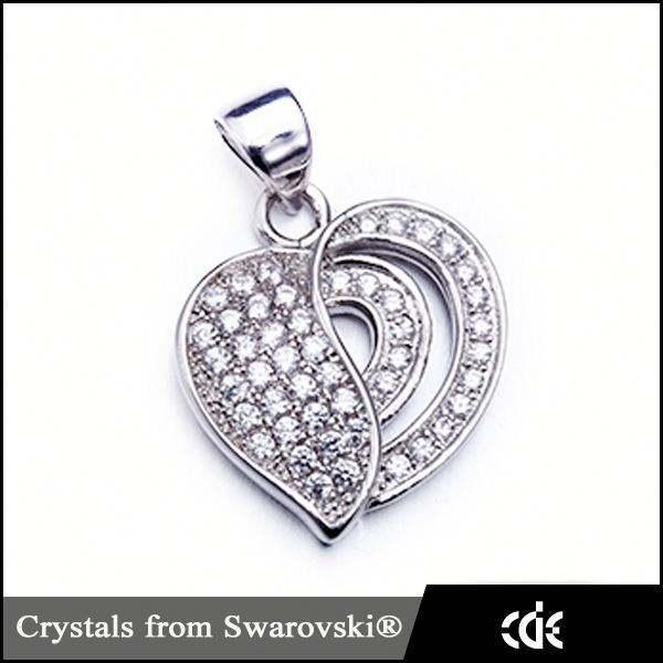 Cristais de Swarovski pingente jóias charme moda colar de pingente