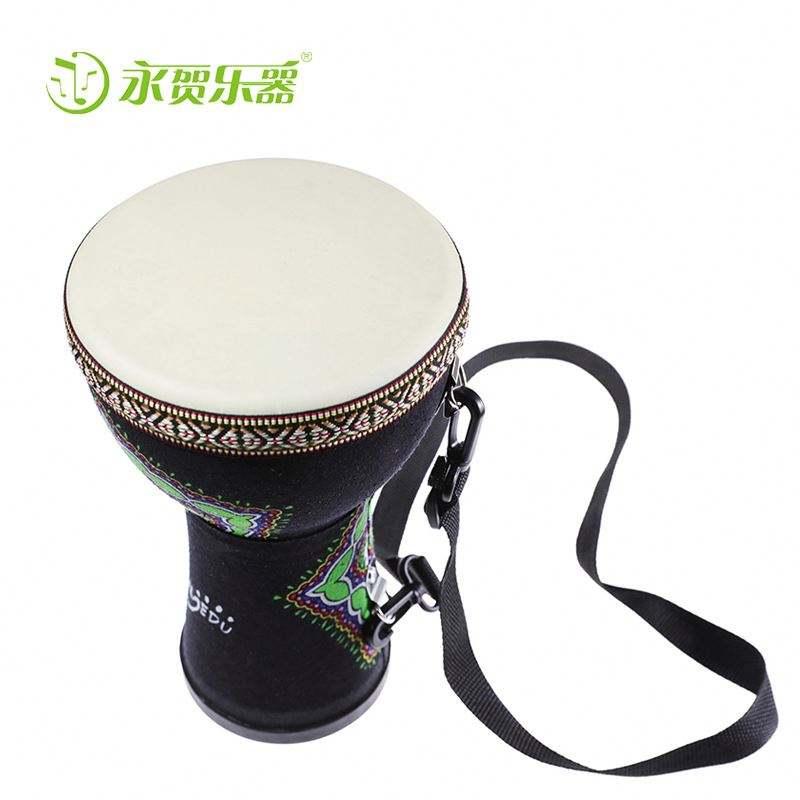 Venta al por mayor de percusión africana 8.10.12 pulgadas djembe tambor estilo nacional patrón de bordado de Tambor Africano