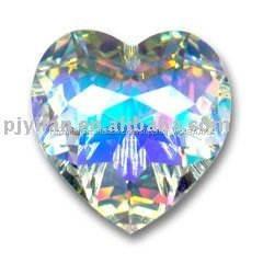 bella cuore sfaccettato forma ab cristallo cuore