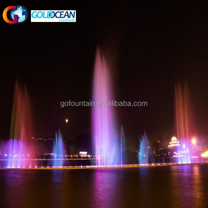 FREE DESIGN Lake Floating Super High Spray Laser Water Fountain