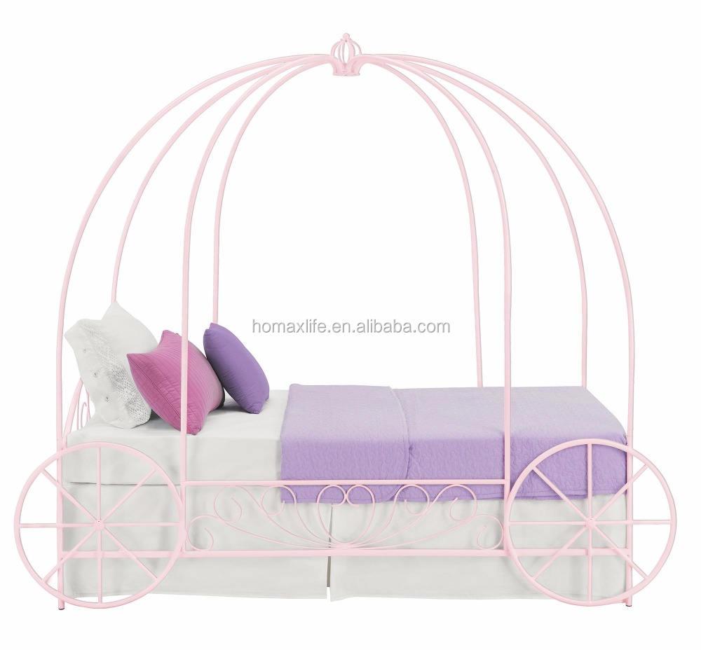 الأطفال الأميرة السرير عربة سرير للفتيات المعادن أميرة السرير