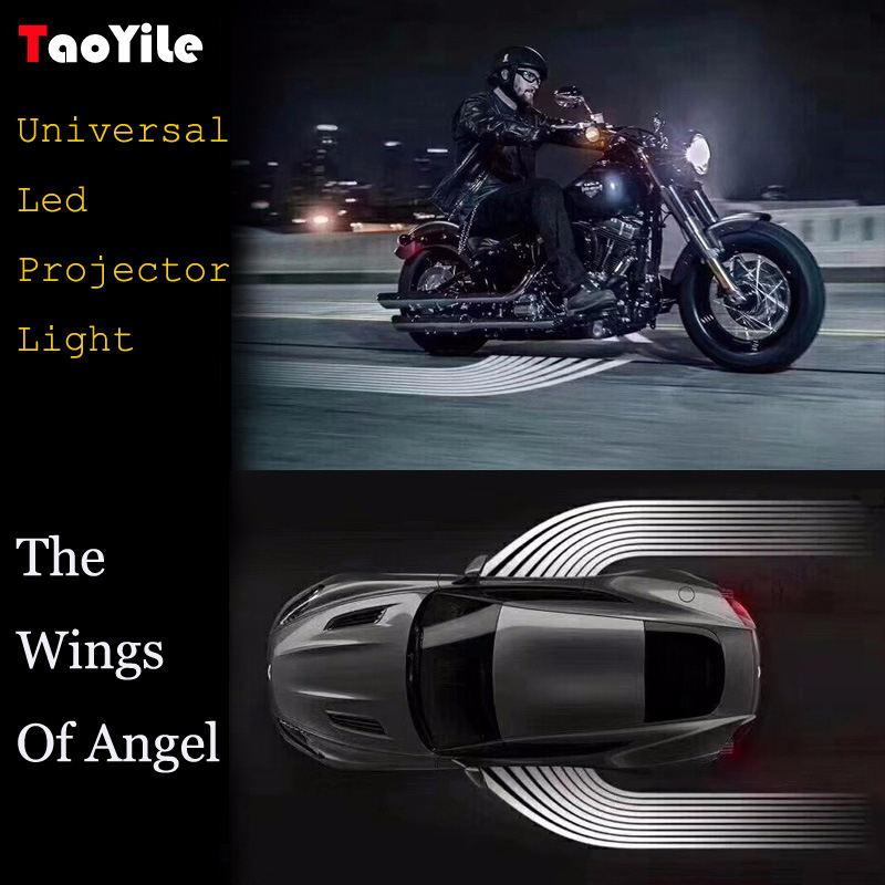 As Asas De Anjo de alta qualidade Auto Car Porta Bem-vindo Led Luz Esteira, Lâmpada do projetor