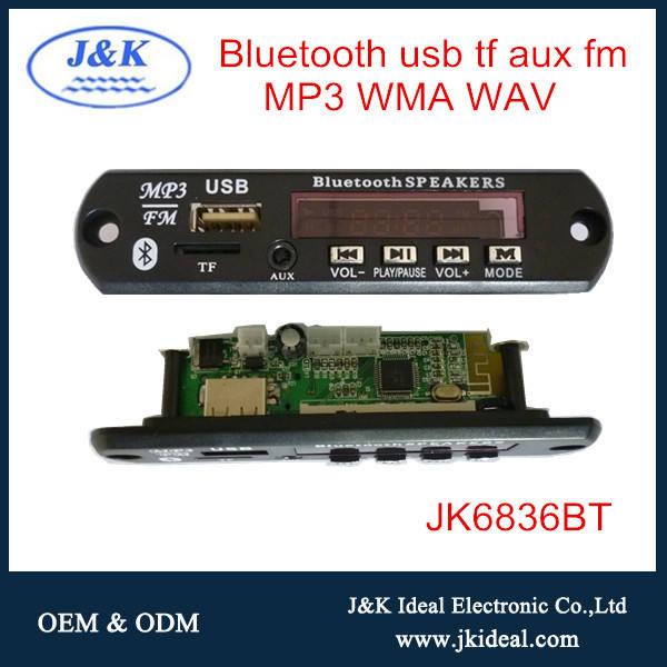 JK6836BT usb fm âm thanh mp3 radio mô-đun bluetooth cho DVD/<span class=keywords><strong>VCD</strong></span>/TV