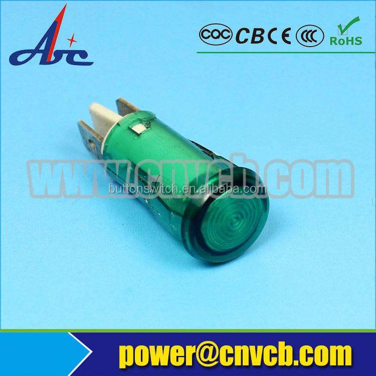 ZS46 12.5mm señal de la lámpara piloto indicador luminoso rojo/verde color 12.5mm luz piloto