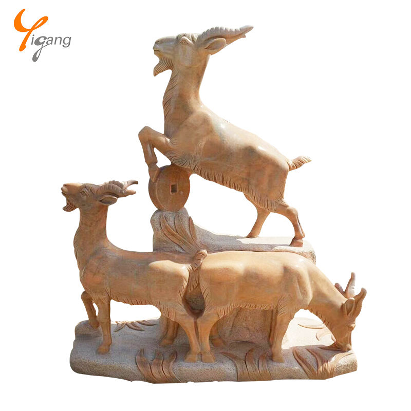 Cabra estátua escultura de <span class=keywords><strong>mármore</strong></span> moderna ao ar livre