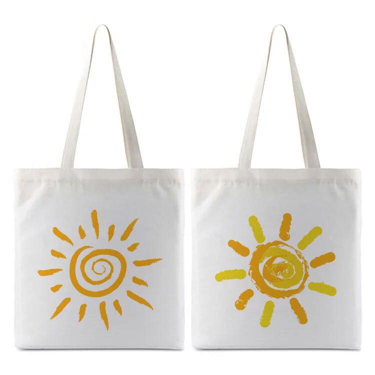 Shoper Tote bolso DIY no mínimo prnt su diseño de alta calidad bajo precio sublimación bolsa de algodón