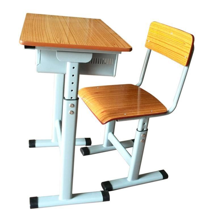 Altura ajustável Crianças Mesa e Cadeiras Da Escola do Estudante De Metal Pedestal Quadro de cadeira escolar