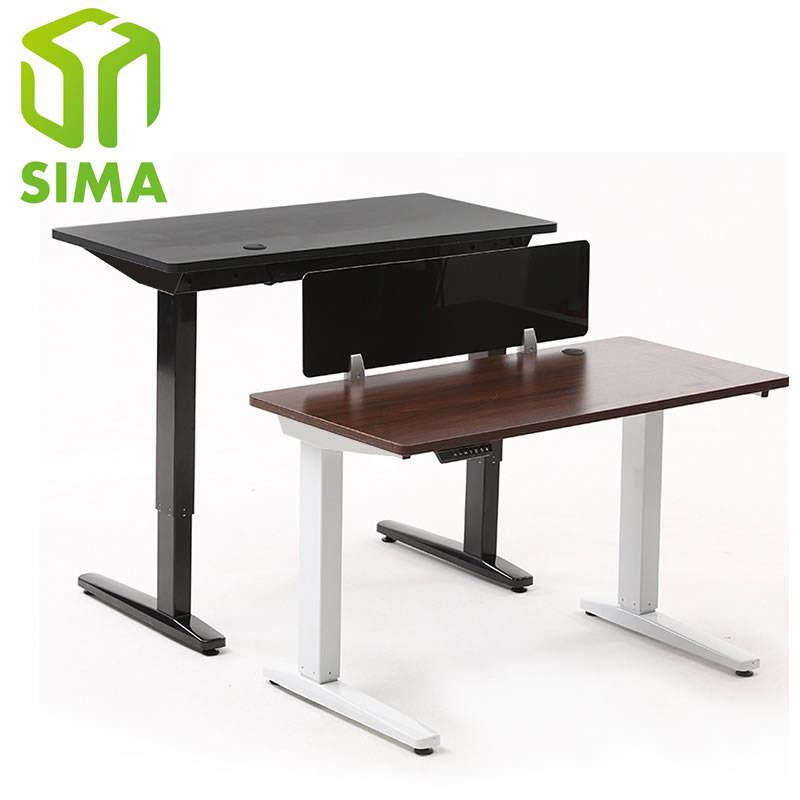 Mobilier de bureau à double moteur électrique entraînée par hauteur réglable bureau