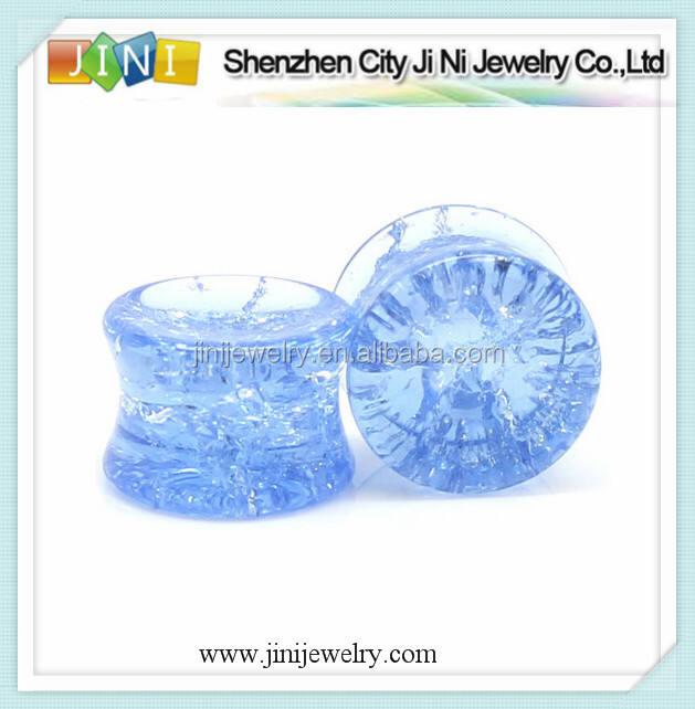 Piercing bleu pyrex verre fissuré