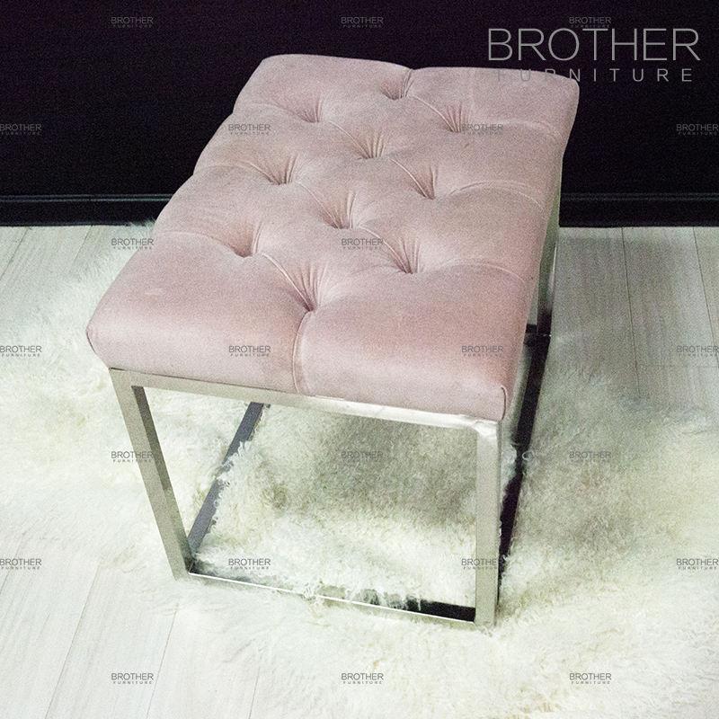 Новый дизайн Розовый ноги стали секс мебель пуфом
