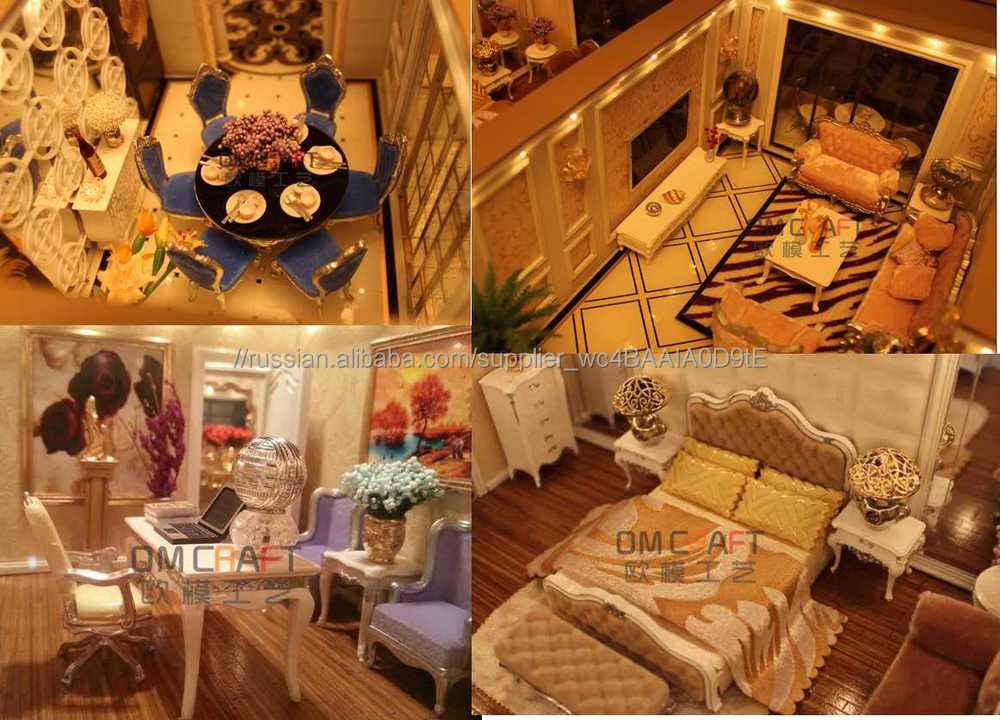Вилла модель с система освещения / жилой дом модель решений / масштабная модель дом для жилой дом внутренней планировки