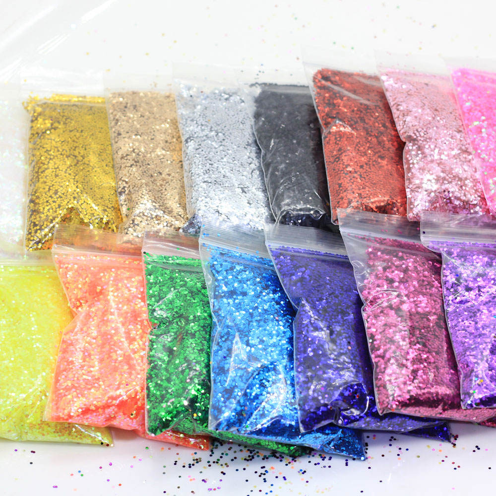 New Arrivals 2019 Colorful Sparkly Dot Round Glitter Confetti Circle Slime Charms Nail Art Christmas Decorations