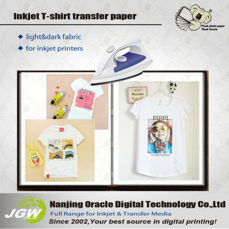 струйных футболку <span class=keywords><strong>передачи</strong></span> света и темной бумаге для хлопка, a5 света футболку копировальная бумага