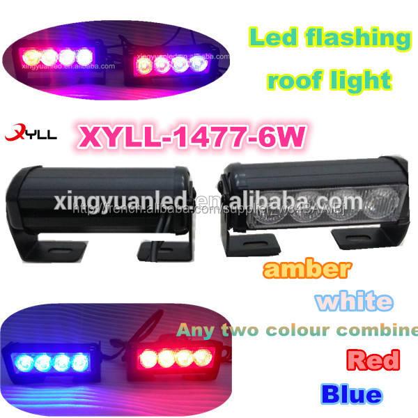 Étanche 6 W led clignotants / flash led lumière / avertissement led barre lumineuse éclairage de secours led