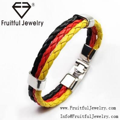 Prese di fabbrica 2016 Coppa Del <span class=keywords><strong>Mondo</strong></span> Nazionale braccialetto gioielli braccialetto di cuoio della lega braccialetto tessuto cop