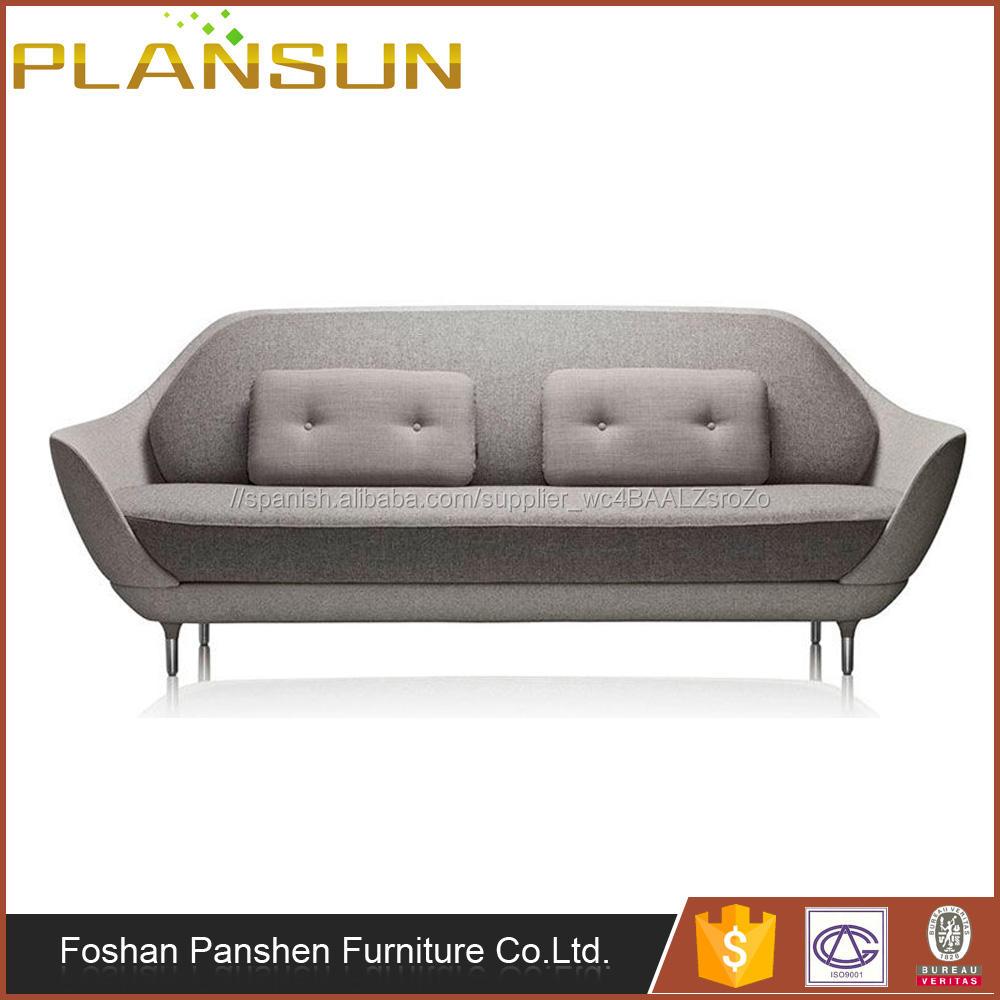 Mobiliario danés Fritz Hansen gris claro diseño favn 3 plazas sofá para sala